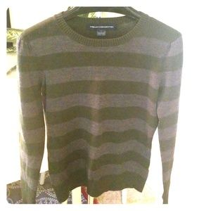 French Connection green & grey striped sweater